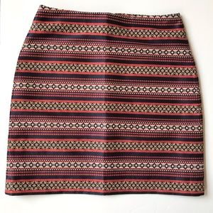 Ann Taylor Loft Structured Mini Pencil Skirt
